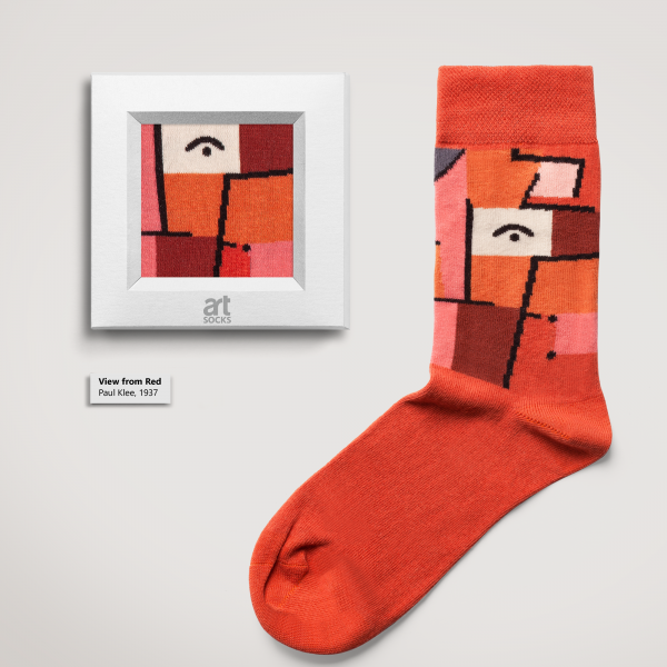 """Socks Paul Klee """"View from Red"""" Limited Edition Artsocks"""