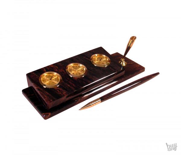 Սեղանի ժամացույց օբսիդիան «Ավանդական»