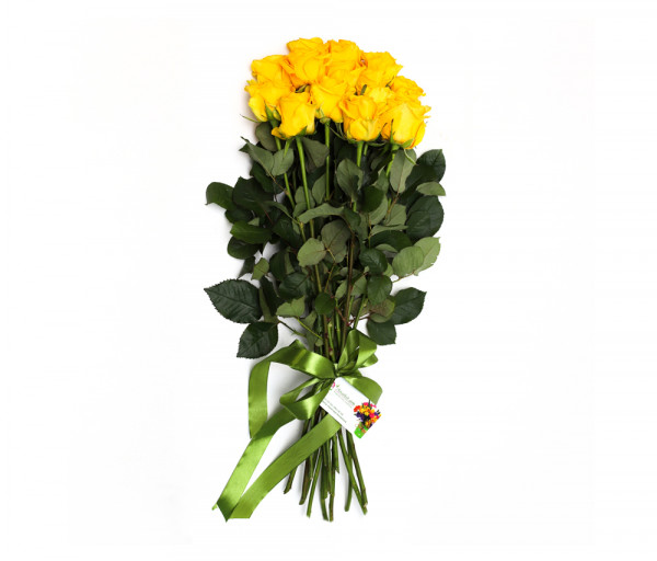 Bouquet of 15 yellow roses Anahit