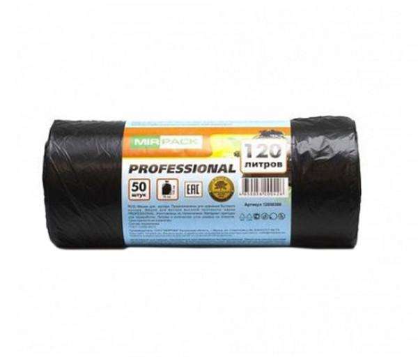 Աղբի տոպրակներ Mir Pack 120լ Professional սև 20 մկմ