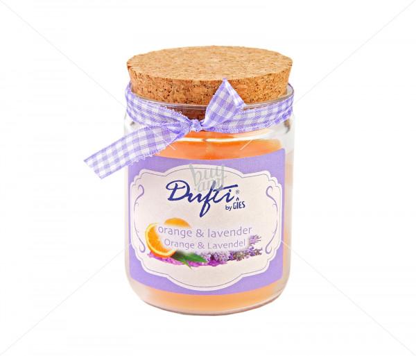 Փայտե փականով բուրավետ մոմ «Orange & lavender» GIES