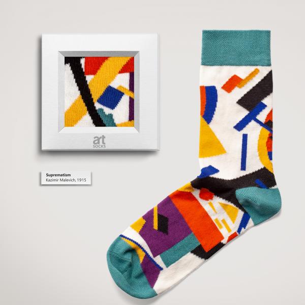 "Socks Kazimir Malevich ""Suprematism"" Limited Edition Artsocks"