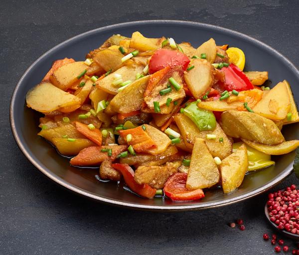 Տապակած բանջարեղեն Դրագոն Գարդեն
