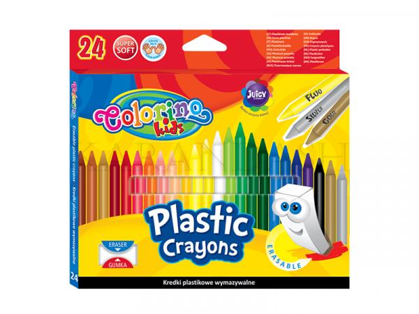 Մոմամատիտներ պլաստիկ Colorino Kids 92029PTR 24 գույն