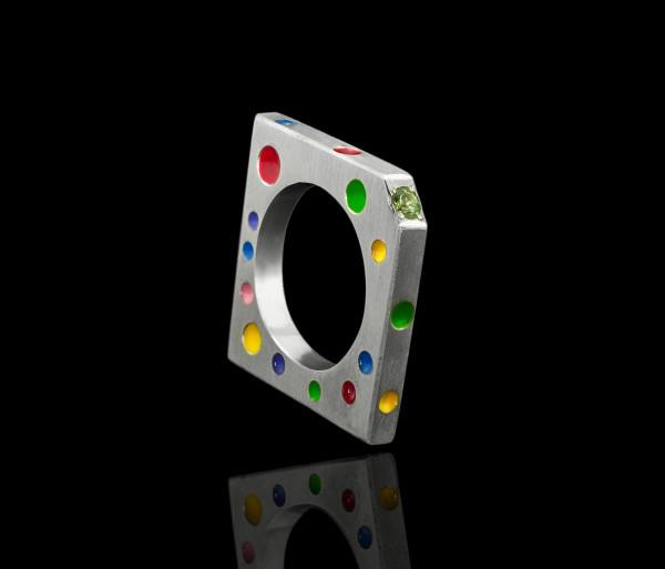 Մատանի «Գունավոր կետեր» Tevos Jewelry