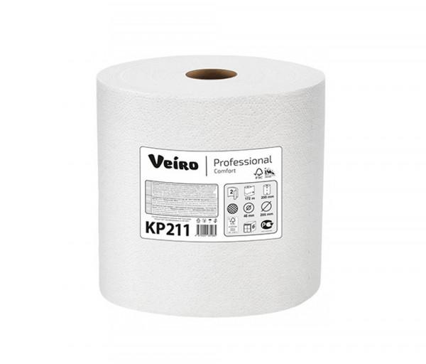 Թղթե սրբիչ (երկշերտ) Veiro Professional KP211, 180մ կտրվածքներով