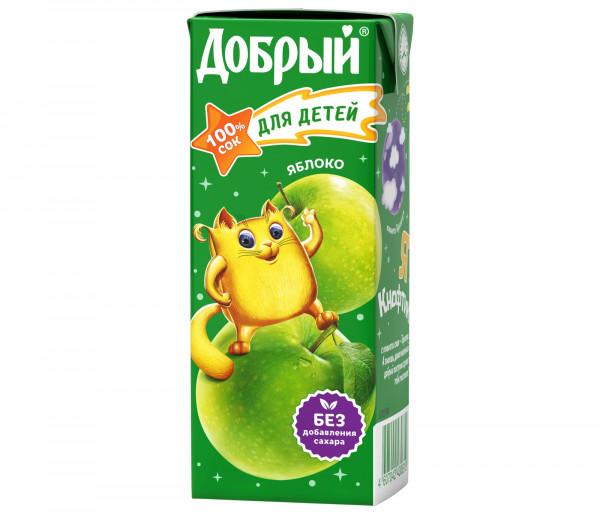 Բնական հյութ «Добрый» (խնձոր) 0.2լ