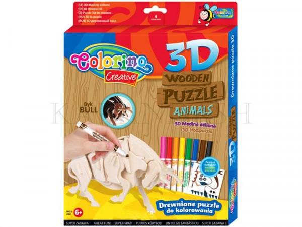 3D փայտյա փազլի հավաքածու Colorino Creative 32490PTR