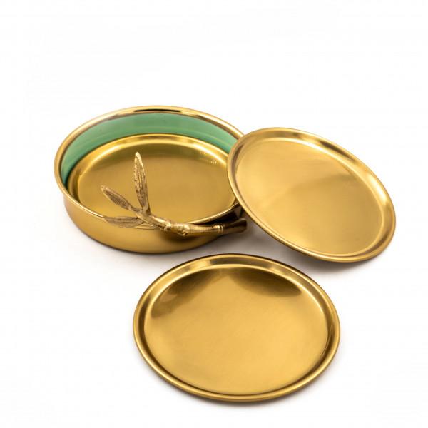 Բաժակի տակդիր ոսկեգույն