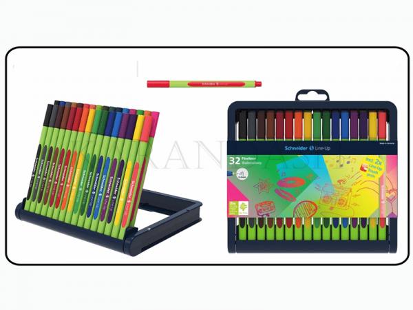 Ֆետրածայր գրիչների հավաքածու Schneider Line Up 0.4մմ 32 գույն