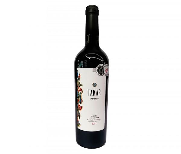 Գինի «Takar» Արենի կարմիր, անապակ 0.75լ