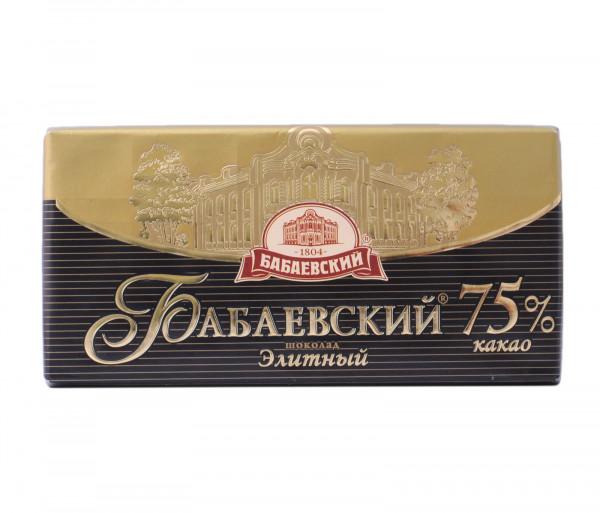 Բաբաեվսկի Էլիտ Շոկոլադ 75% 100գ