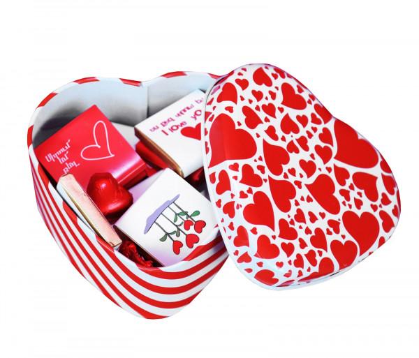 Շոկոլադե սալիկների հավաքածու «Happy Valentine's Day» 100գ Gourmet Dourme