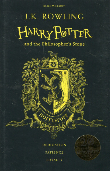 """J. K. Rowling """"Harry Potter and the Philosopher's Stone - Hufflepuff Edition"""" Bookinist"""