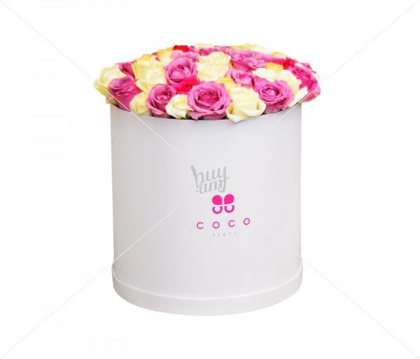 Ծաղկային կոմպոզիցիա «Vanila Sky» (մեծ) Coco Fiori