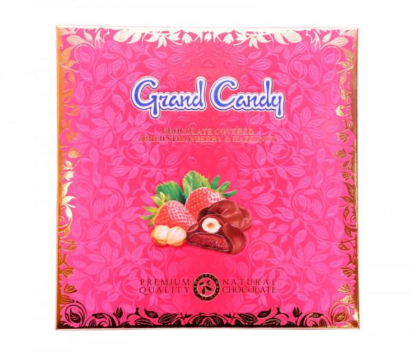 Շոկոլադապատ ելակի չիր պնդուկով 180գ Grand Candy