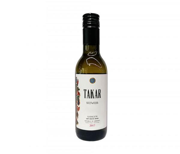 Սպիտակ անապակ գինի «Տակառ» 187մլ