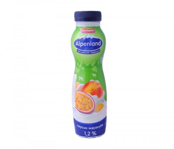 Alpenland Drinking Yogurt Peach/Passion fruit 1.2% 290g