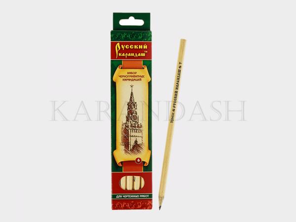 """Սև գրաֆիտե մատիտների հավաքածու""""Русский Карандаш"""" CK116 06"""