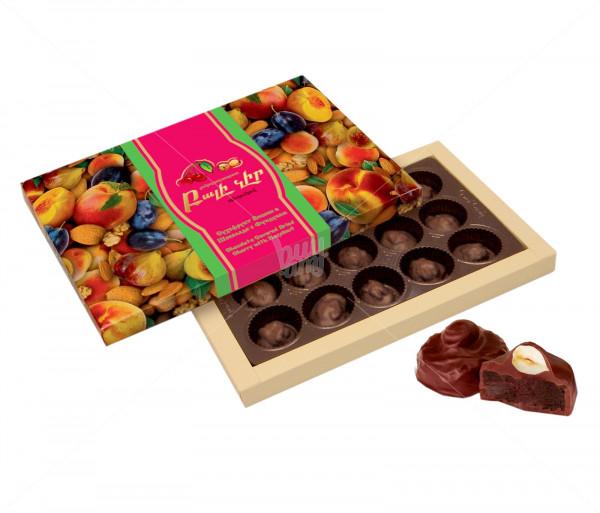 Կոնֆետների ընտրանի «Շոկոլադապատ բալի չիր պնդուկով» Grand Candy