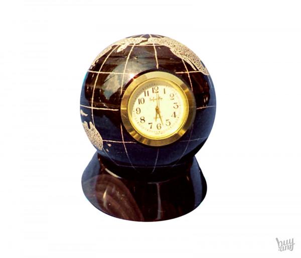 Սեղանի ժամացույց օբսիդիան «Երկիր մոլորակ»