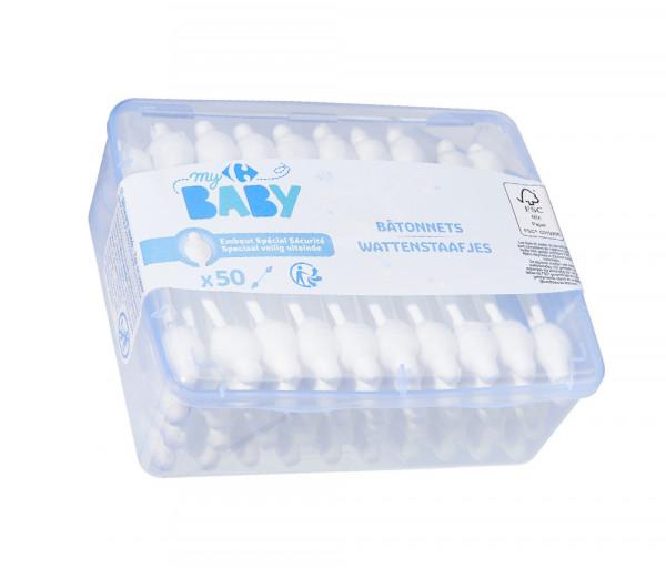 Քարֆուր Մանկական Բամբակյա փայտիկներ x50