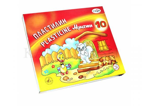 Ծեփամածիկի հավաքածու Гамма Мультики 10 գույն
