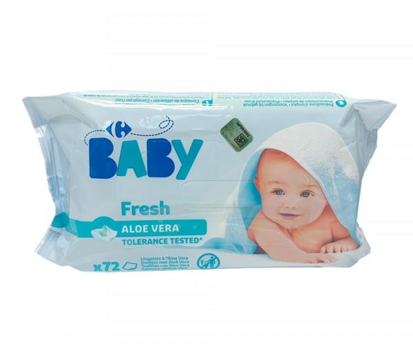 Carrefour Baby Fresh Wipes Aloe Vera x72