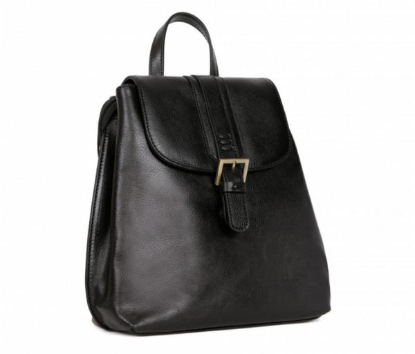 Women's leather bag Backpack Hexagona