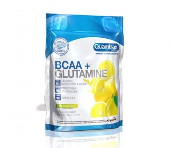 Quamtrax BCAA 2:1:1 Glutamine (կիտրոն) 500գ