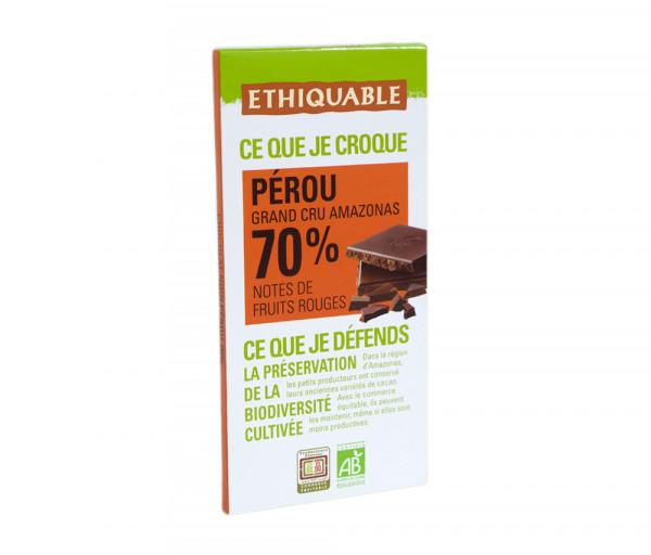 Էթիկաբլ Բիո Մուգ շոկոլադ Սալիկ 70% 100գ