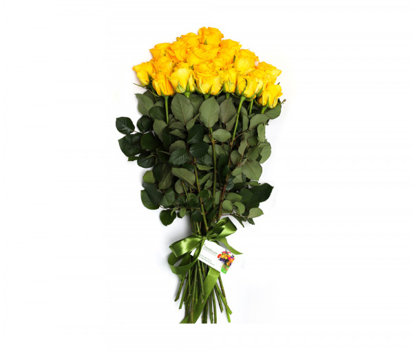 25 դեղին վարդով ծաղկեփունջ Anahit