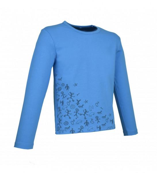 Փիրուզագույն երկարաթև շապիկ Lalunz ժայռապատկերների պրինտով