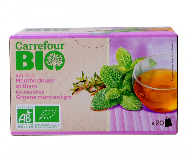 Carrefour Bio Thym / Mint Tea 1.5gx20