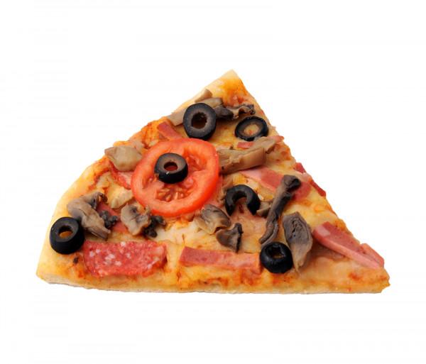 Պիցցա խոզապուխտով և սնկով