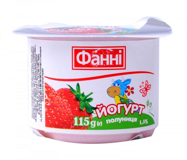 Ֆաննի Յոգուրտ Ելակ 1.5% 115գ