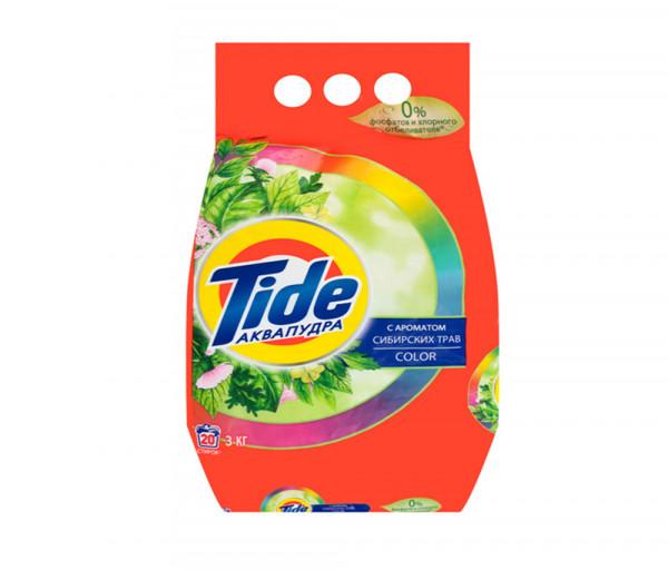 Թայդ Ավտոմատ Լվացքի փոշի Գունավոր հագուստի համար Սիբիրյան խոտաբույսերի բույրով 3կգ
