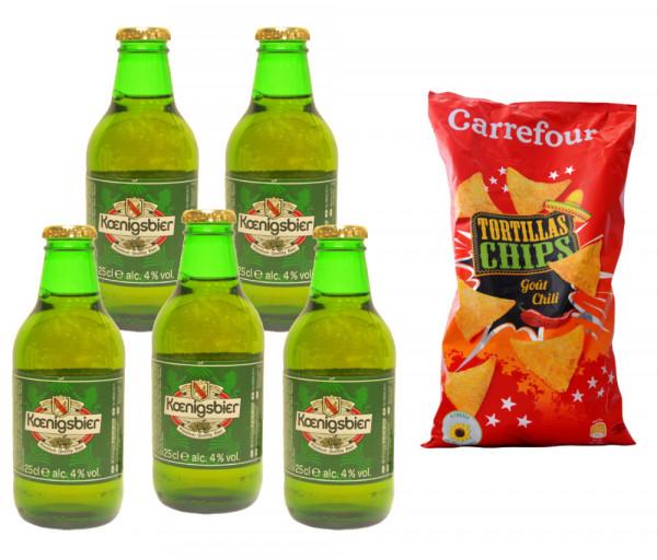 Buy 5 beer Koenigsbier - Get Carrefour Tortilla Chips 400g FOR FREE