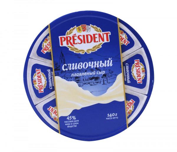 Պրեզիդենտ Հալած պանիր Սերուցք 45% 140գ