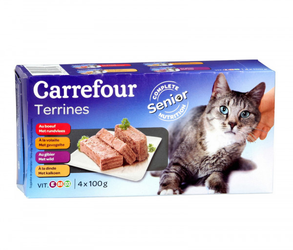 Carrefour Terrine Senior Cat 100gx4