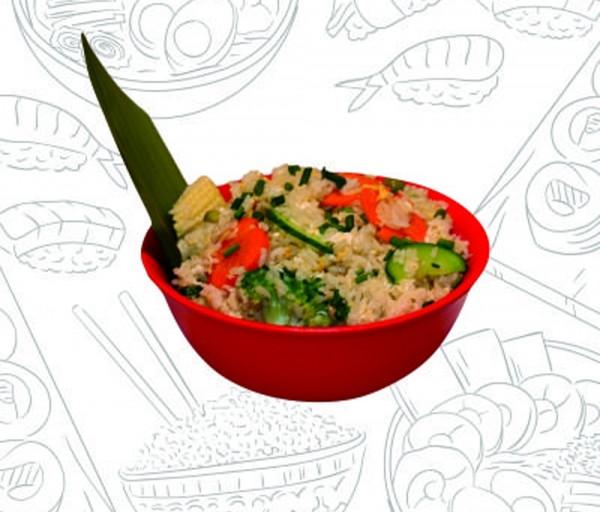 Թայլանդական բրինձ բանջարեղենով Վոկ ընդ Ռոլ