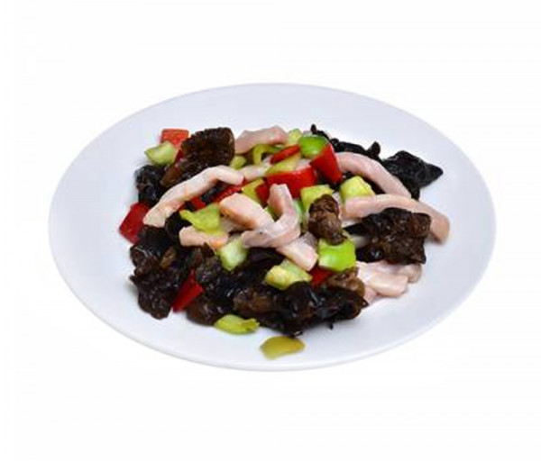 Տապակած ձուկ ծովային սև սնկերով սոյայի սոուսում Պեկին Ռեստորան