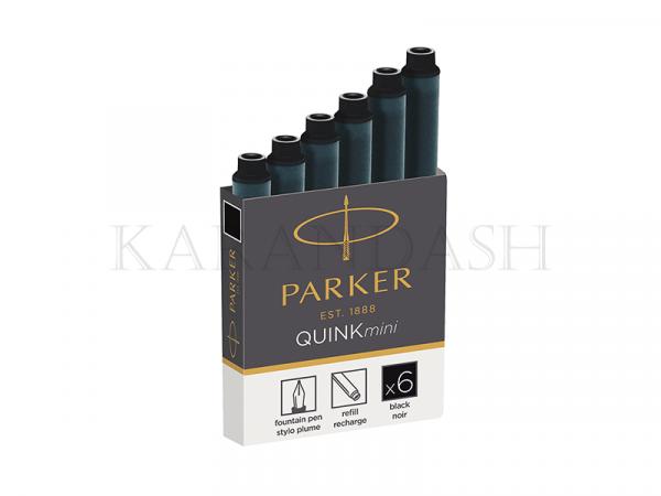 Քարթրիջ գրիչ փետուրի, սև Parker Quink Mini 1950407