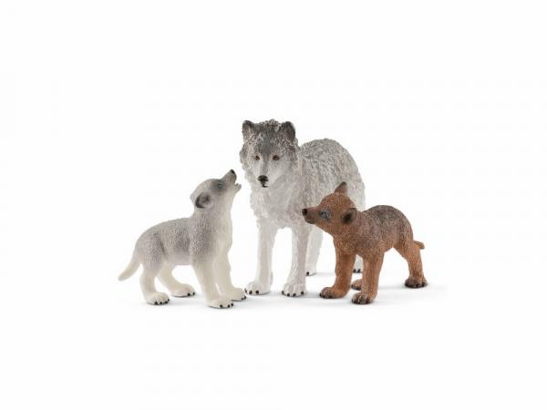 Schleich Կենդանիների արձանիկների հավաքածու «Մայր գայլը՝ ձագերի հետ»