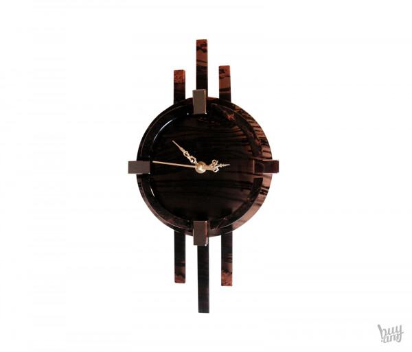 Պատի ժամացույց օբսիդիան «Կլասիկ»