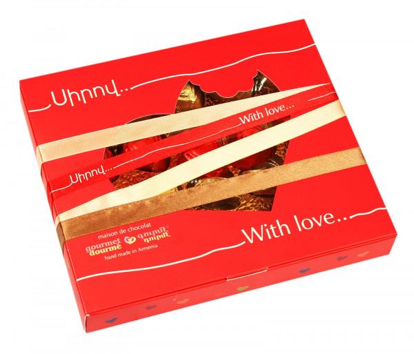 Շոկոլադե կոնֆետների հավաքածու «Սիրով» Gourmet Dourme