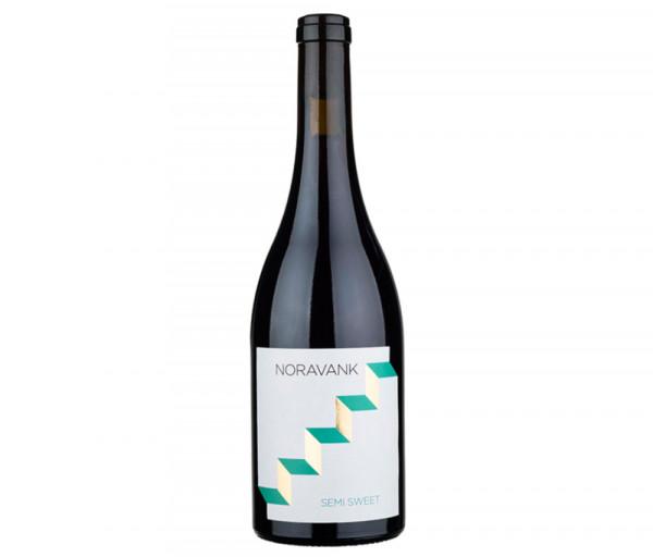 Grape wine Noravank red, semi-sweet Maran Winery