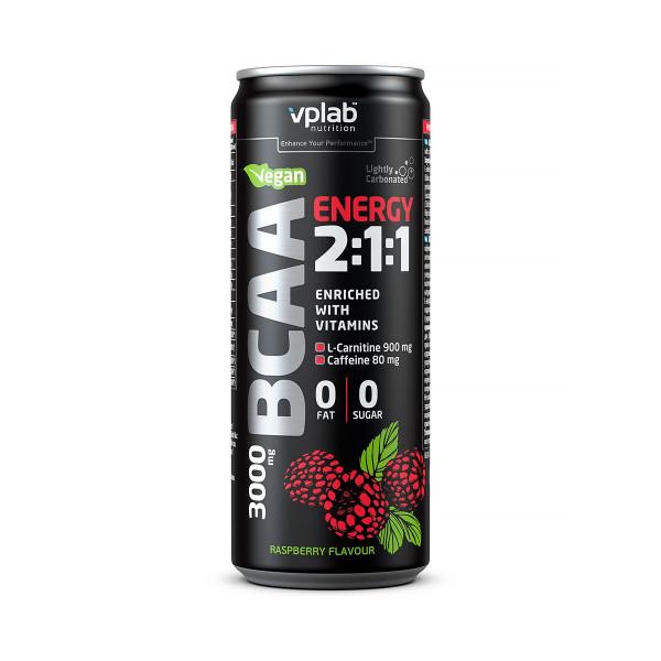 VPlab Էներգետիկ ըմպելիք BCAA 2:1:1 (ազնվամորի) 330մլ
