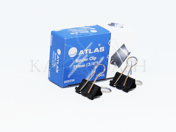 Սեղմակ թղթերի համար Atlas DC0226 19մմ