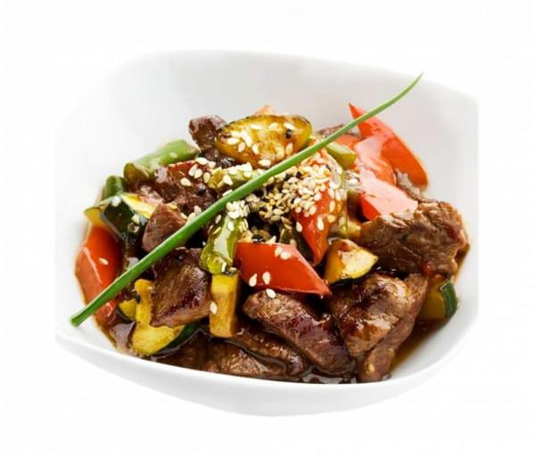 Հորթի միս բանջարեղենով Սուշի Կուշի